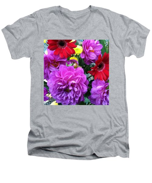 Some Fall Flowers For Inspiration! Men's V-Neck T-Shirt by Jennifer Beaudet