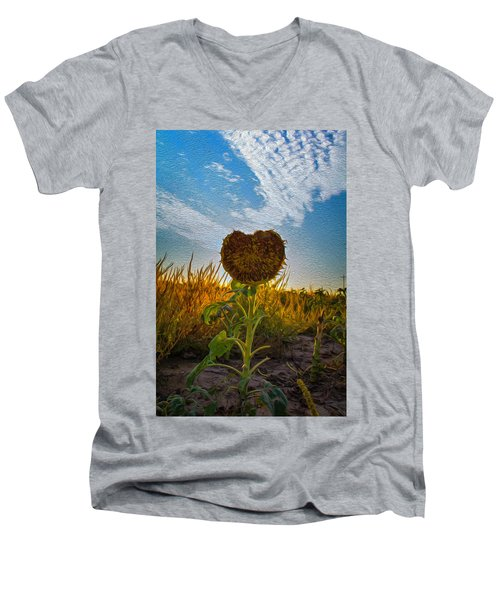 Some Flower Men's V-Neck T-Shirt