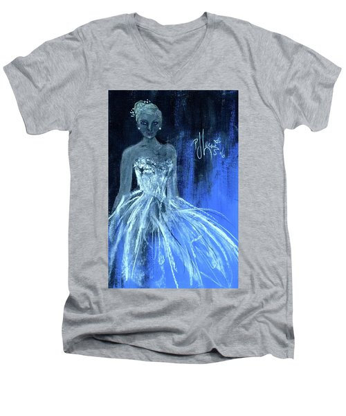 Something Blue Men's V-Neck T-Shirt by P J Lewis