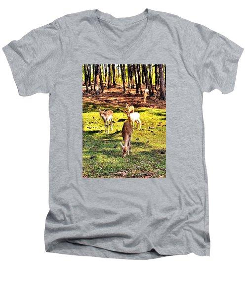 Something This Way Cometh Men's V-Neck T-Shirt by James Potts