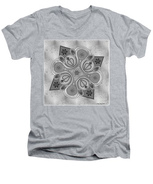 Something2 Men's V-Neck T-Shirt by Megan Dirsa-DuBois
