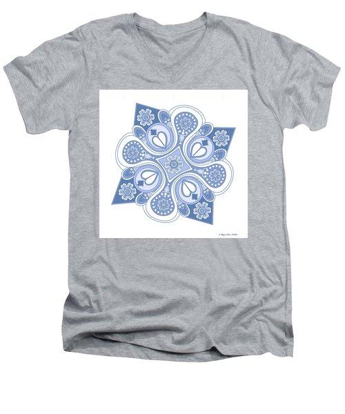 Something4 Men's V-Neck T-Shirt by Megan Dirsa-DuBois