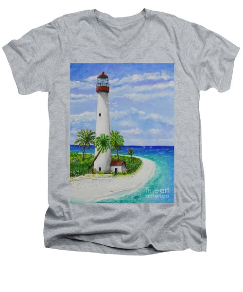Somewhere Beautiful Men's V-Neck T-Shirt
