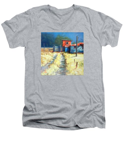 Somewhere Far Away Men's V-Neck T-Shirt