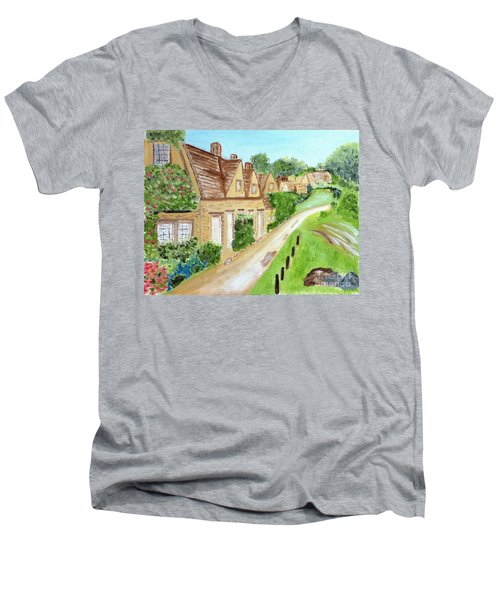 Somewhere In Cotswolds South West England Men's V-Neck T-Shirt