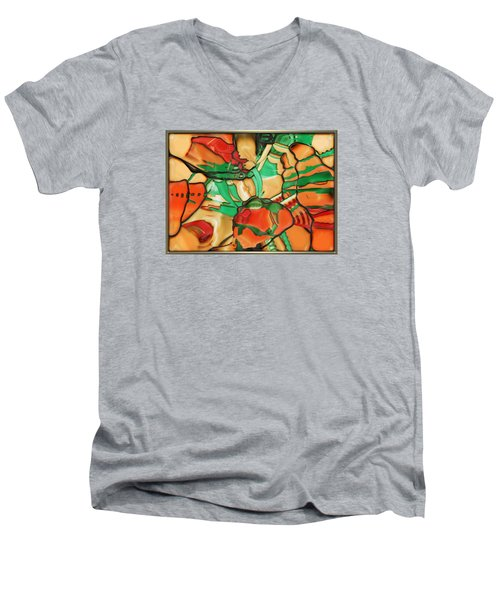 ' Somewhere In Mexico' Men's V-Neck T-Shirt