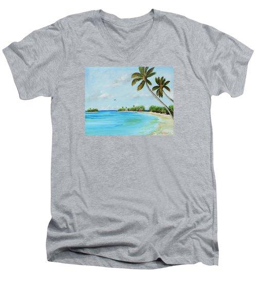Somewhere In Paradise Men's V-Neck T-Shirt
