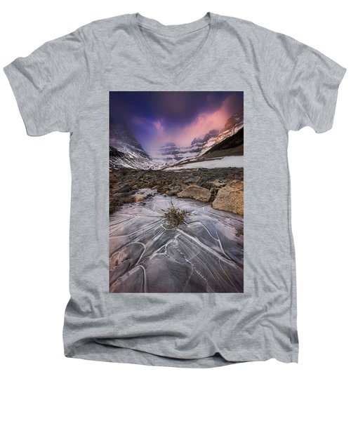 Somewhere In The Canadian Rockies Men's V-Neck T-Shirt