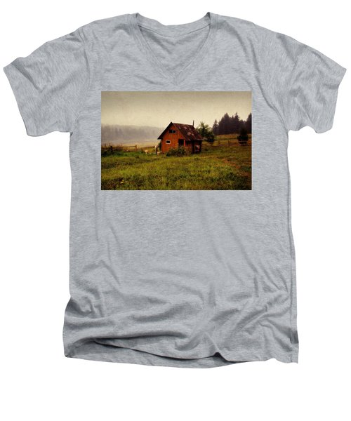 Somewhere In The Countryside. Russia Men's V-Neck T-Shirt