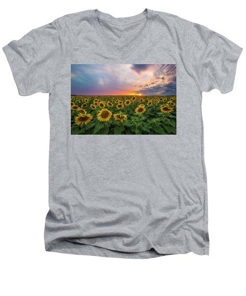 Somewhere Sunny  Men's V-Neck T-Shirt