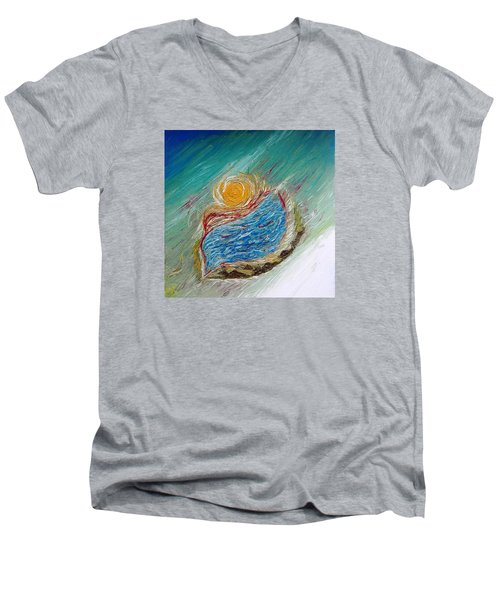 Somewhere There Is A Wonderful World ... Men's V-Neck T-Shirt