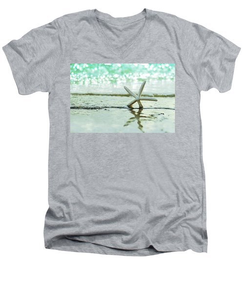 Somewhere You Feel Free Men's V-Neck T-Shirt by Laura Fasulo