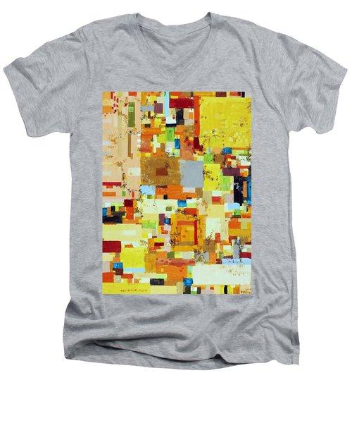 Song Of Solar Fusion Men's V-Neck T-Shirt