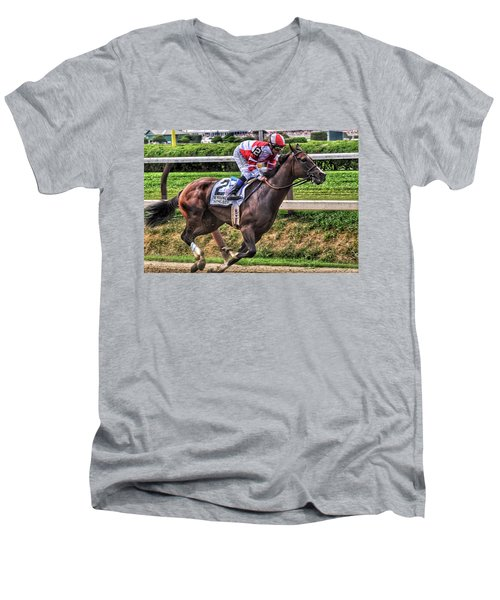 Songbird With Mike Smith Saratoga August 2017 Men's V-Neck T-Shirt