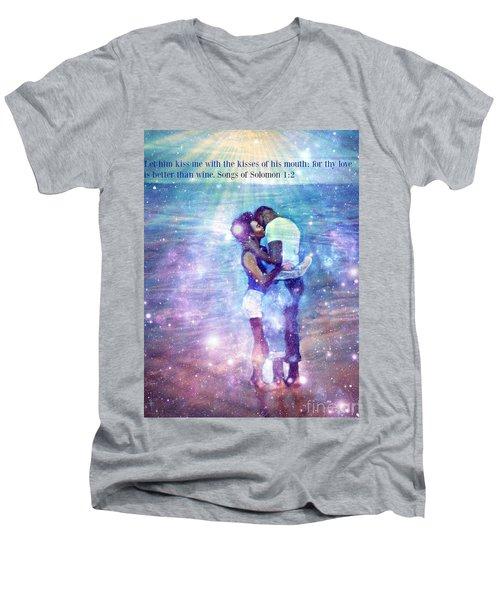 Songs Of Solomon Men's V-Neck T-Shirt by Vannetta Ferguson