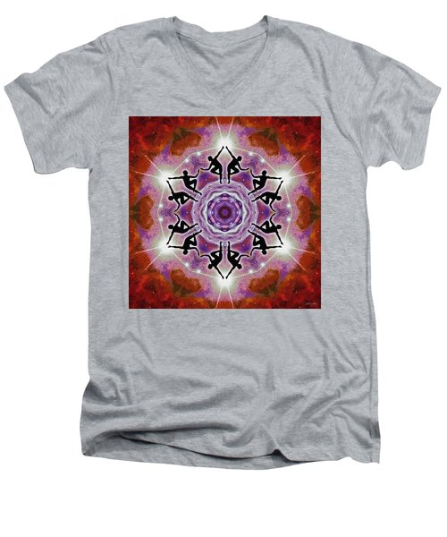 Men's V-Neck T-Shirt featuring the digital art Sonic Galaxies by Derek Gedney