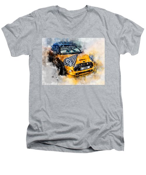 Sonny Watercolor Men's V-Neck T-Shirt