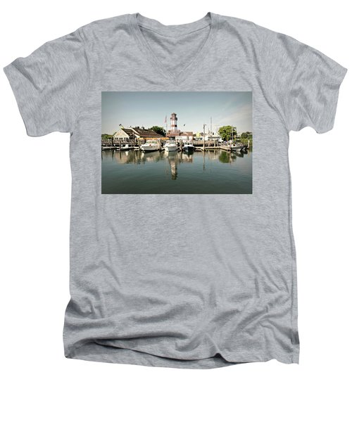 Sono Seaport Men's V-Neck T-Shirt by Diana Angstadt