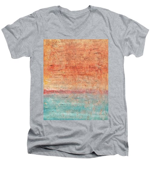 Sonoran Desert #1 Southwest Vertical Landscape Original Fine Art Acrylic On Canvas Men's V-Neck T-Shirt