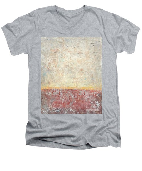 Sonoran Desert #2 Southwest Vertical Landscape Original Fine Art Acrylic On Canvas Men's V-Neck T-Shirt