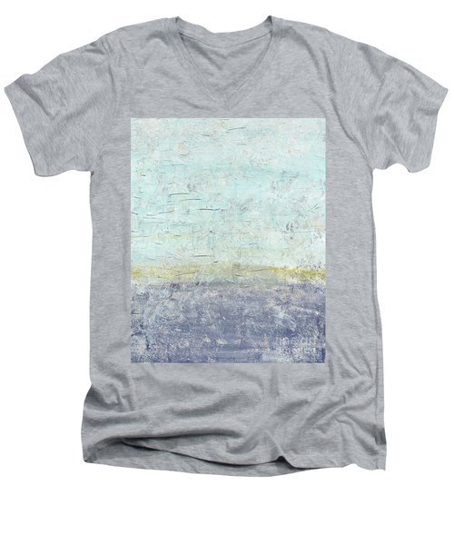 Sonoran Desert #3 Southwest Vertical Landscape Original Fine Art Acrylic On Canvas Men's V-Neck T-Shirt