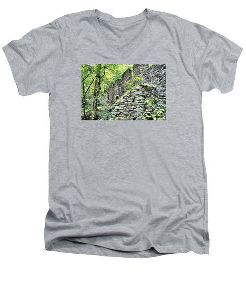 Sope Creek Mill Men's V-Neck T-Shirt by James Potts