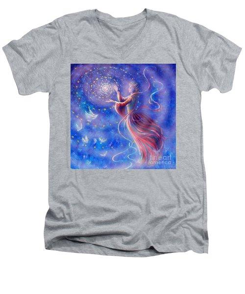 Sophia Finds Wisdom Men's V-Neck T-Shirt by Dee Davis