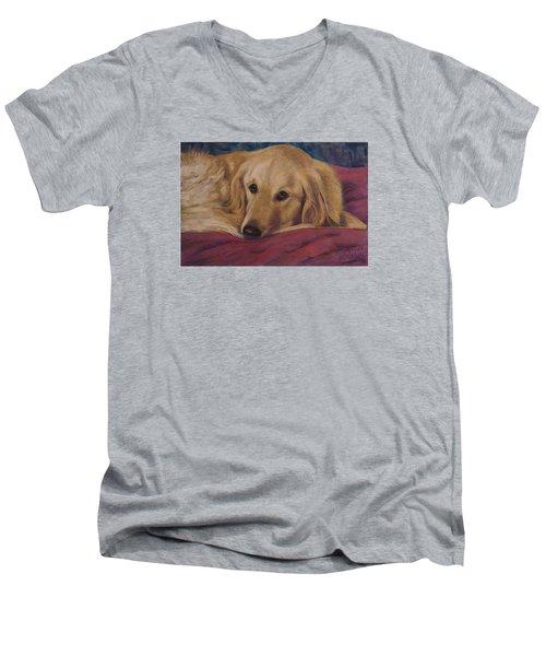 Soulfull Eyes Men's V-Neck T-Shirt by Billie Colson