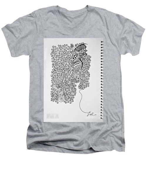 Soundless Whisper Men's V-Neck T-Shirt by Fei A