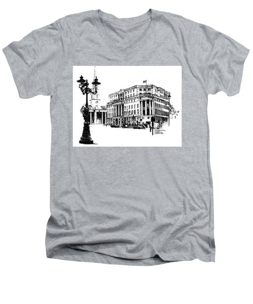 South Africa House Men's V-Neck T-Shirt by Tim Johnson