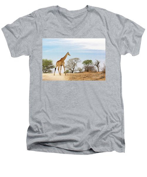 South African Giraffe Men's V-Neck T-Shirt