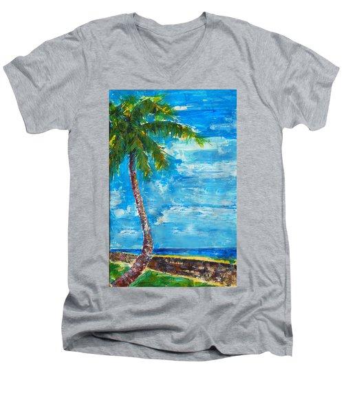 South Beach Wall Men's V-Neck T-Shirt