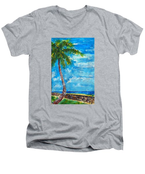 South Beach Wall Men's V-Neck T-Shirt