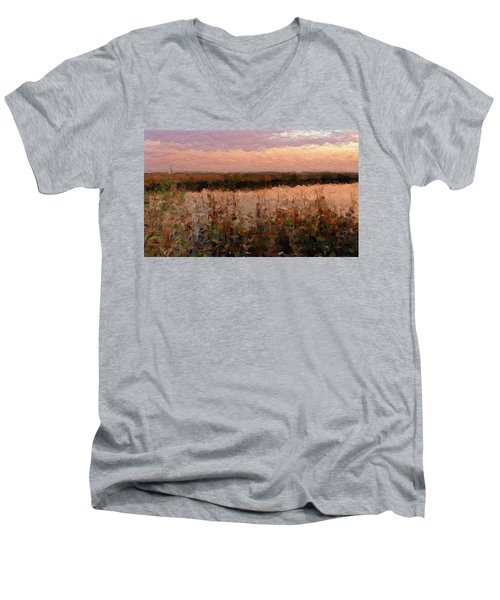 South Carolina Evening Marsh Men's V-Neck T-Shirt by Anthony Fishburne