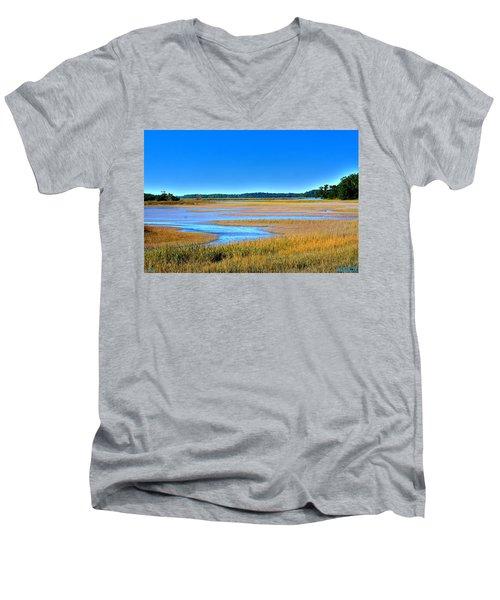 South Carolina Lowcountry H D R Men's V-Neck T-Shirt