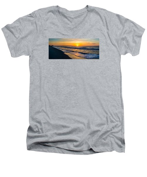 South Carolina Sunrise Men's V-Neck T-Shirt by David Smith