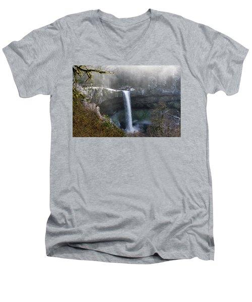 South Falls Shroud Men's V-Neck T-Shirt