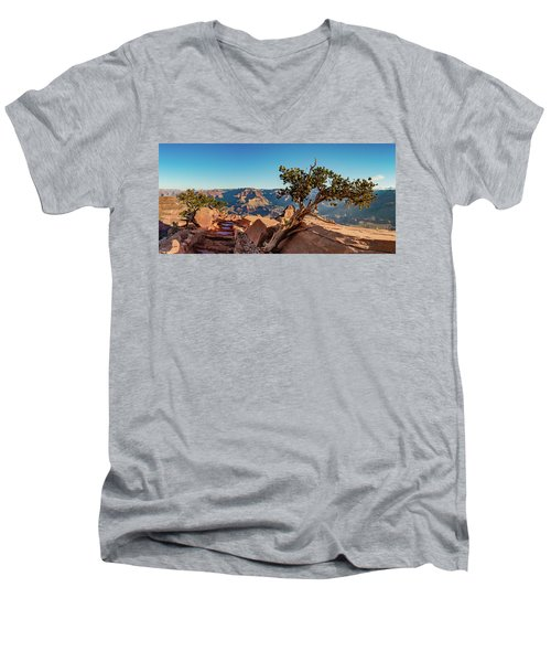 Men's V-Neck T-Shirt featuring the photograph South Kaibab Grand Canyon by Phil Abrams