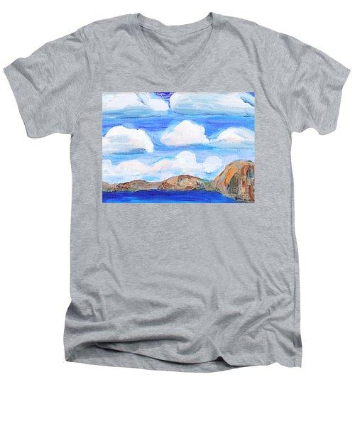 South Morro Bay View To North Men's V-Neck T-Shirt