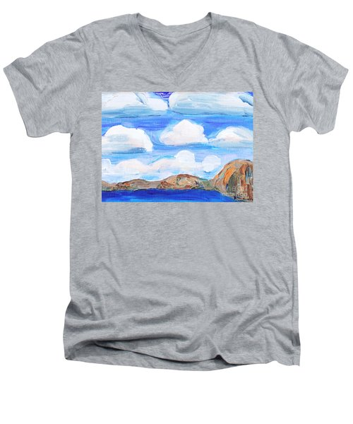 South Morro Bay View To North Men's V-Neck T-Shirt