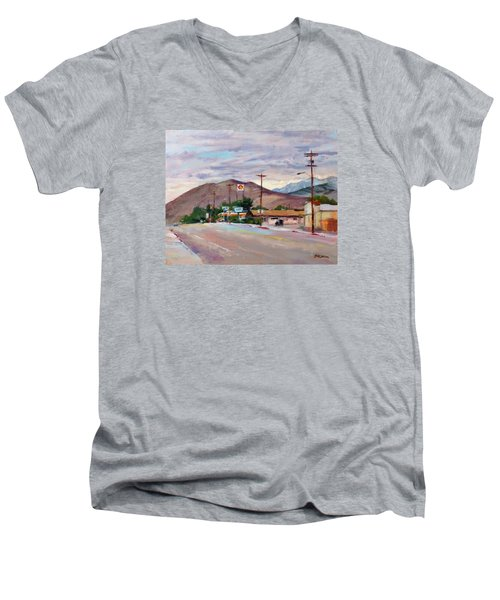 South On Route 395, Big Pine, California Men's V-Neck T-Shirt