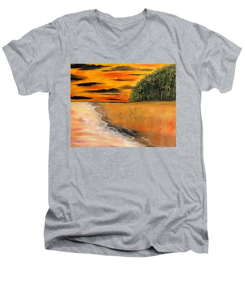 South Paciffic Men's V-Neck T-Shirt by Lisa Aerts