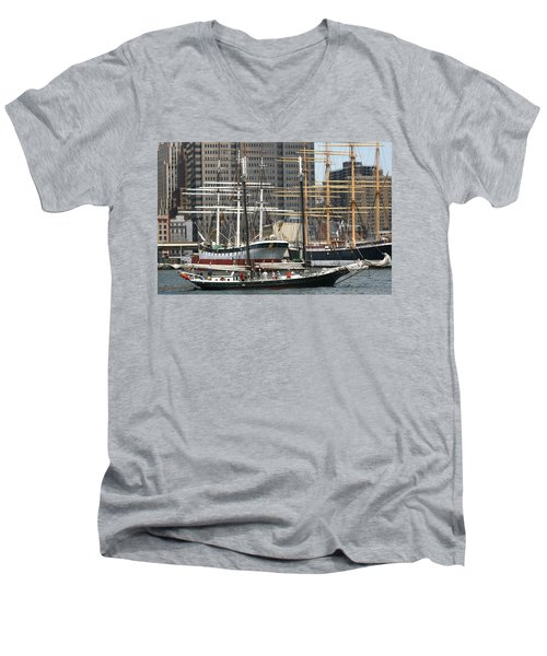 South Street Seaport Pioneer Men's V-Neck T-Shirt