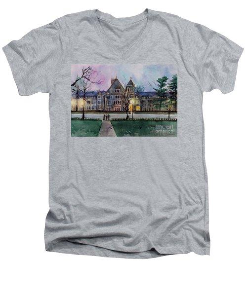 South University Avenue 2 Men's V-Neck T-Shirt