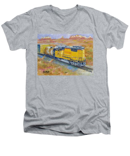 South West Union Pacific Men's V-Neck T-Shirt by William Reed