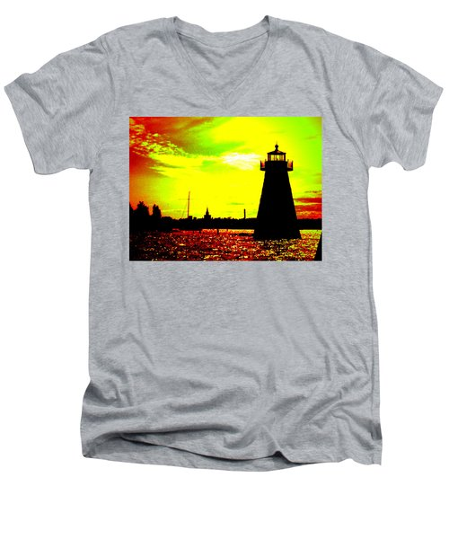 Southcoast Silhouette  Men's V-Neck T-Shirt by Kate Arsenault