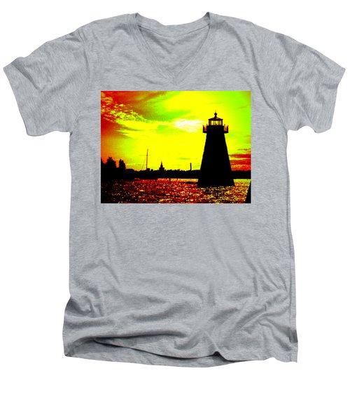 Southcoast Silhouette  Men's V-Neck T-Shirt