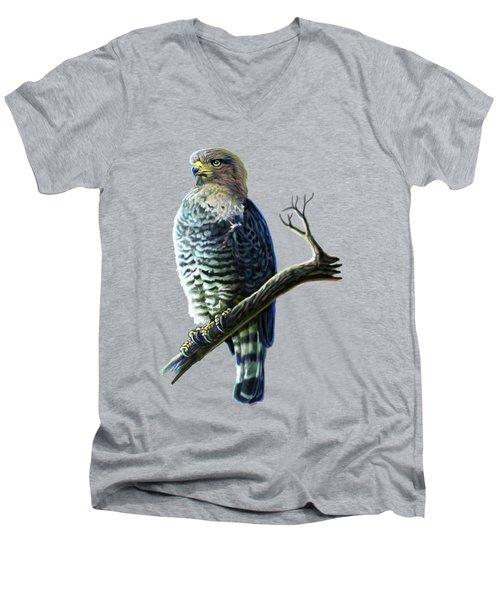 Southern Banded Snake Eagle Men's V-Neck T-Shirt