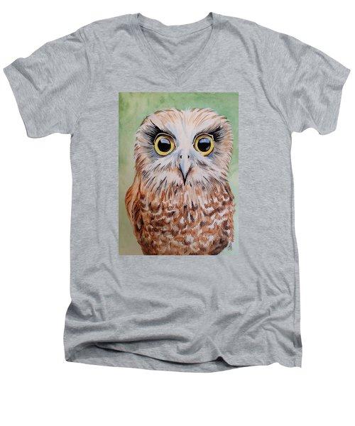 Southern Boobook Owl Men's V-Neck T-Shirt