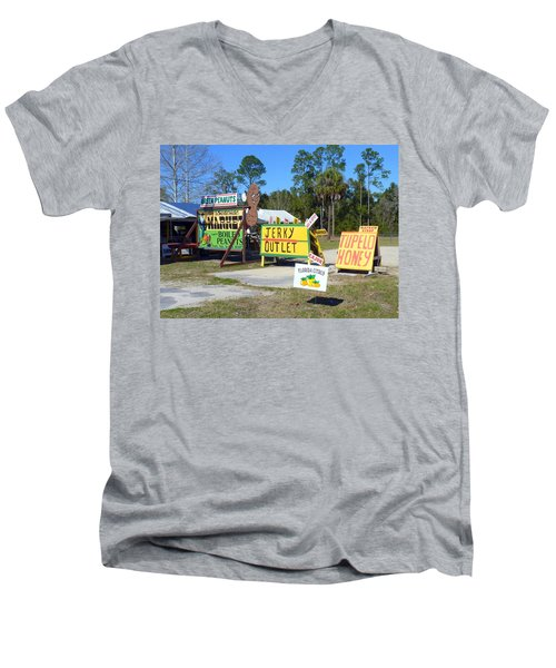 Southern Delights Men's V-Neck T-Shirt by Carla Parris